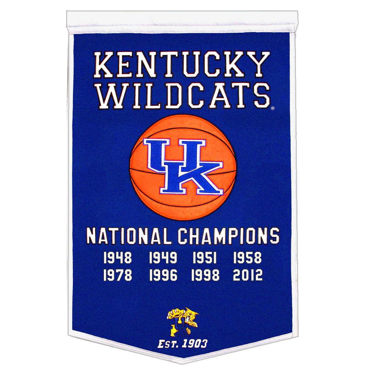 Kentucky Wildcats Championship Banner