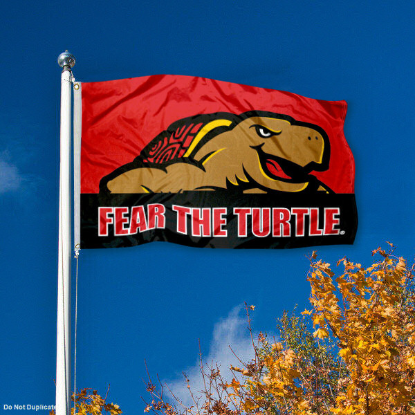 Maryland Terrapins Terps Fear The Turtle Flag 3x5 Banner
