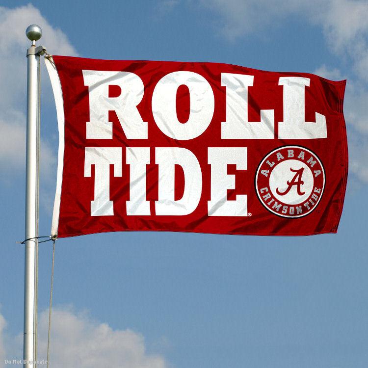 Alabama Crimson Tide Banner Flag Roll Tide Double Sided