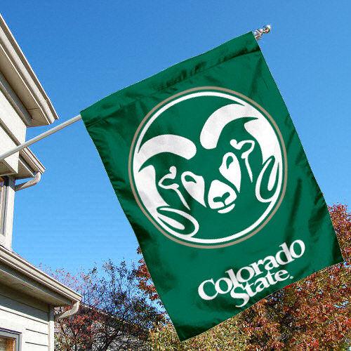 Colorado State Rams CSU University College House Flag